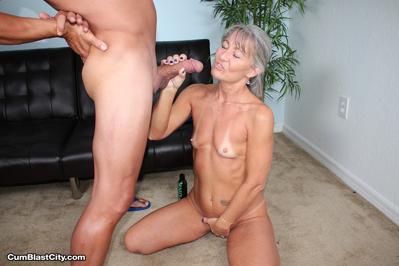 Hot blonde inserting dildo