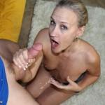 Milf Valerie Rose Showered In Cum After Handjob