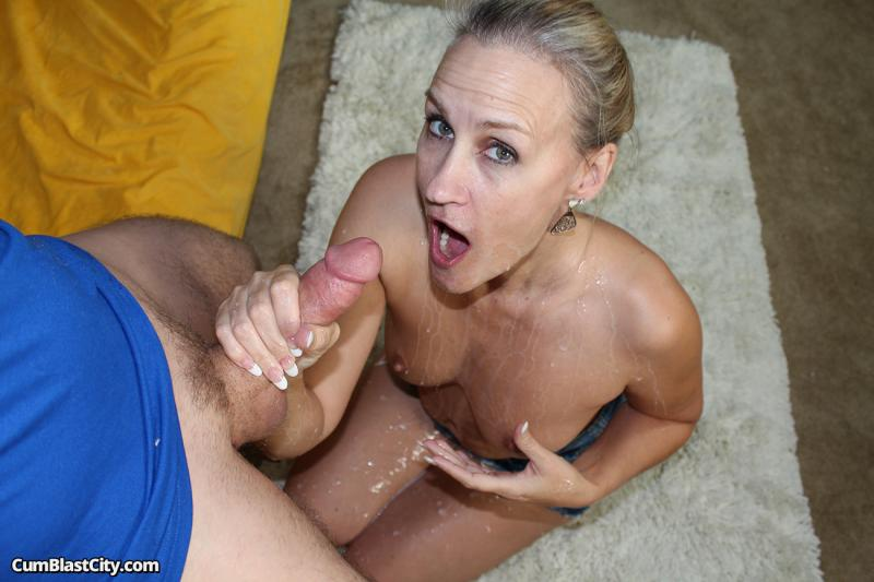 Milf Valerie Rose Showered In Cum After Handjob