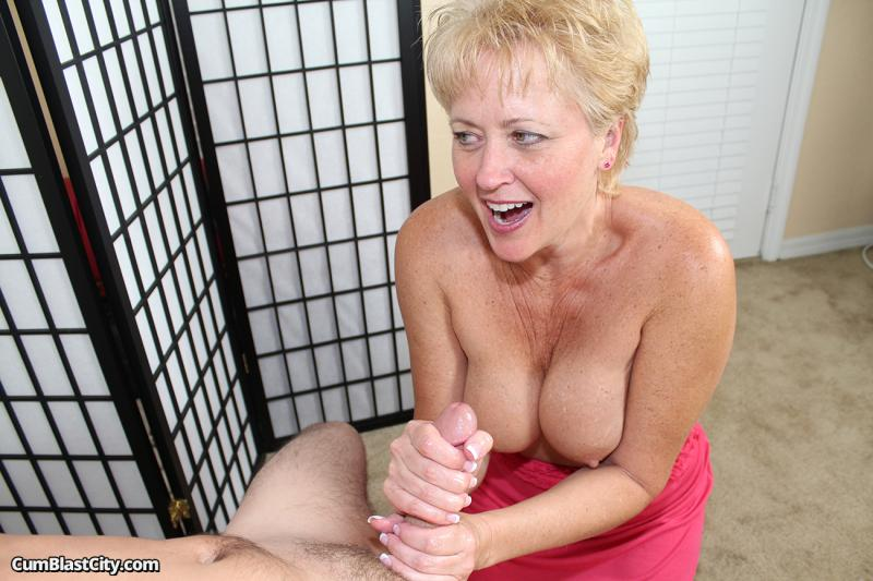 Old woman stroking cock have hit