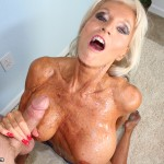 Sally D'Angelo Sucks Off Man Until He Explodes On Her Rack