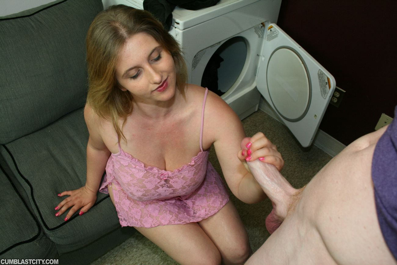 Busty Rainas Thick Laundry Room Facial-2915