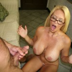 Charlee Chase bathed in cum