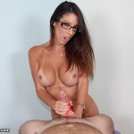 Dava Foxxx stroking a big cock