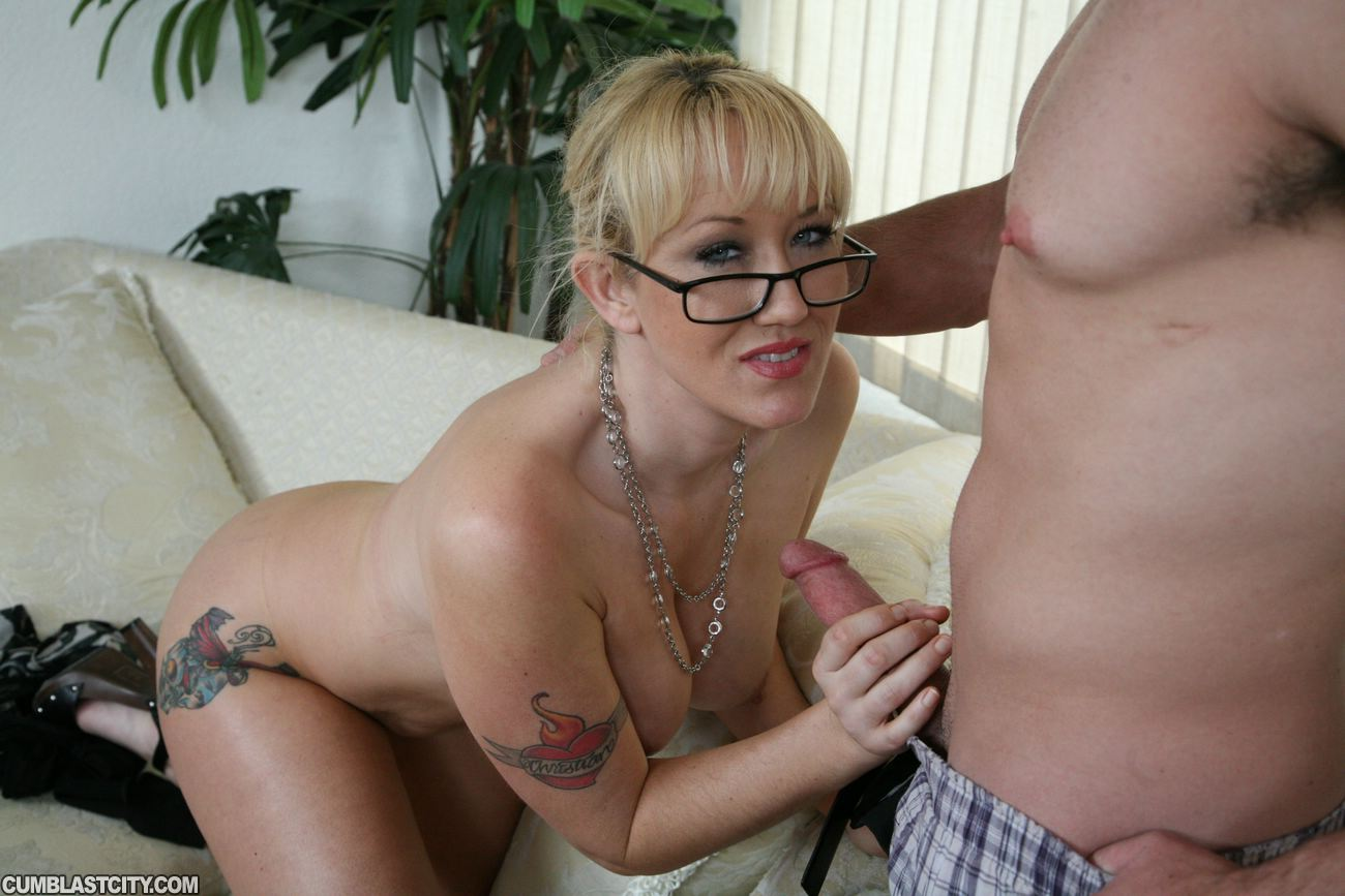 Alana Evans jerking off her boss