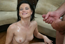 Teen Newcomer Aubrey Sky Loves Getting Cum Splattered On Her Face And Boobs - Picture 12