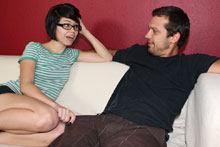 Petite Teen Jerking Off Her Brothers Best Friend - Picture 1