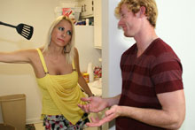 Drunk And Extra Horny Mom Dallas Daimondz Uses Cooking Oil To Lube Up A Cock