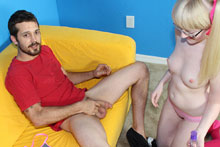 Blonde Babe Krystal Jerking Off Her Perverted Step Brother - Picture 4