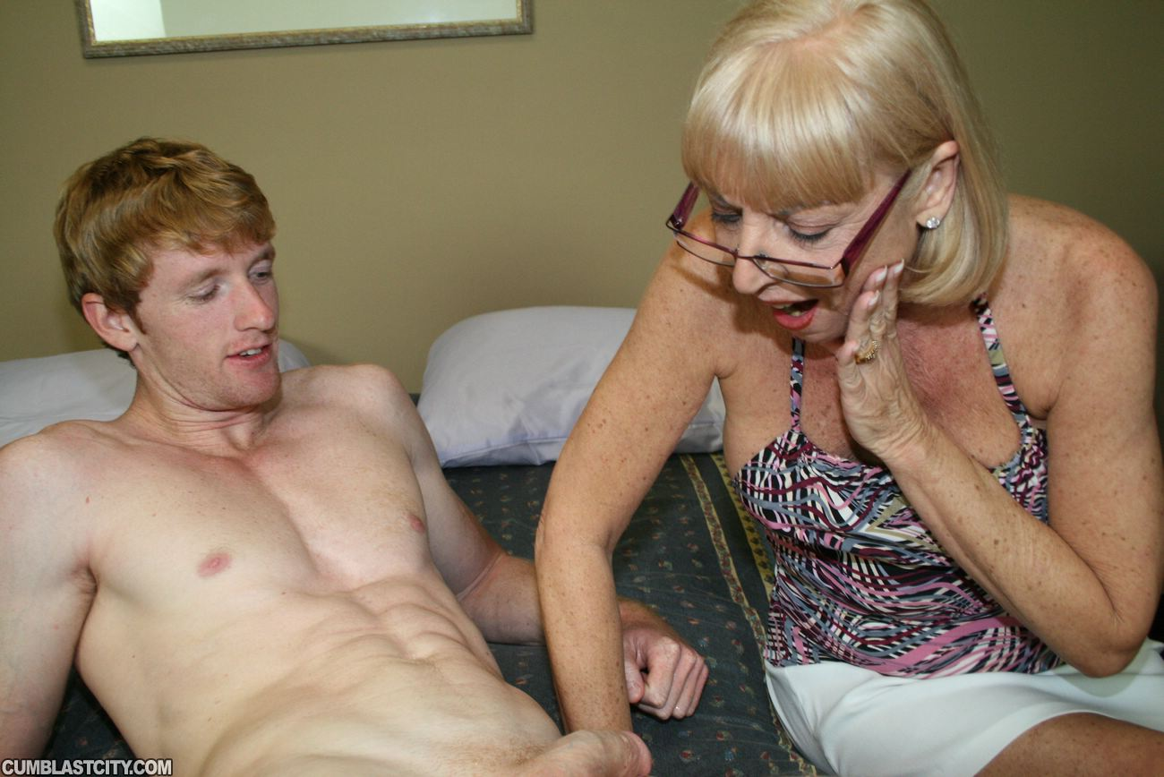 Granny gets monster cock