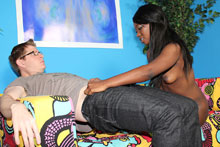 Ebony Teen Slut Get Cum Exploded On Her Tits - Picture 4