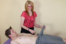 Sexy Masseuse Victoria Jerking Off Big Cock - Picture 4