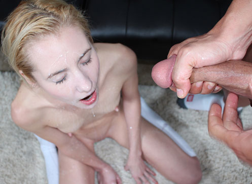 3 Cumshot Movies - Frensh babe Odette milking huge cock