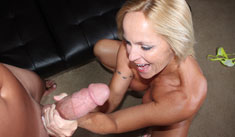1 Cumshot Movies - Busty milf milking big cock till it exploded with cum