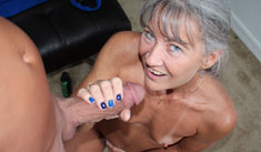1 Cumshot Movies - Granny jerked young stud and drain his balls